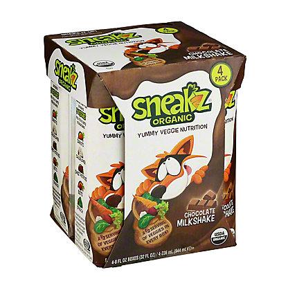 Sneakz Organic Chocolate Milkshake, 4 pk