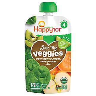 Happy Tot Organics Love Veggies Spinach Apple Sweet Potato Kiwi,4.22OZ