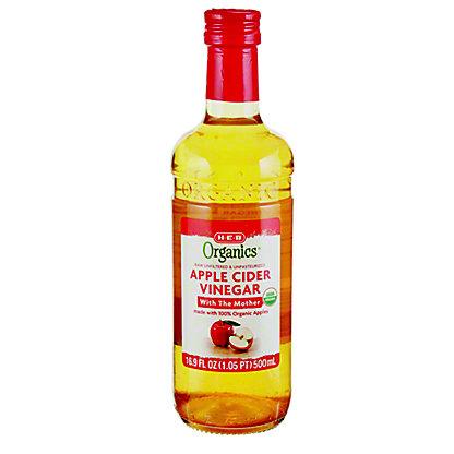H-E-B Organics Apple Cider Vinegar,16.9OZ