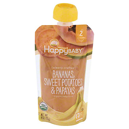 Happy Baby Organics Clearly Crafted Stage 2 Banana Sweet Potato,4 OZ