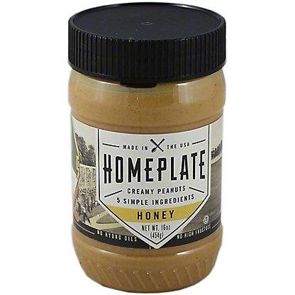 Homeplate Honey Peanut Butter,16.00 oz