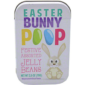 Nassau Clever Candy Bunny Poop Jelly Beans Tin, 2.5 oz