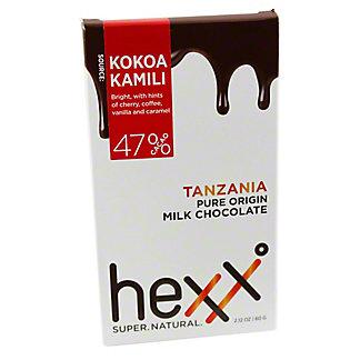 HEXX Hexx Milk Chocolate Tanzania 41%, 2.12OZ