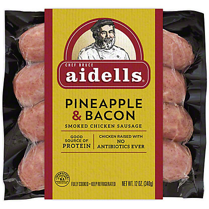 Aidells Pineapple & Bacon Smoked Chicken Sausage,12 oz