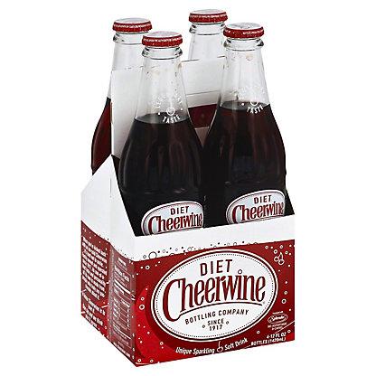 Cheerwine Cherry Flavored Diet Soda,4 ea