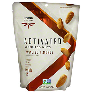 Living Intentions Sprouted Unsalted Almonds, 16 oz