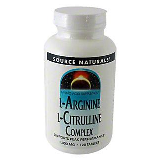 Source Naturals L Arginine L Citrulline, 120 ct