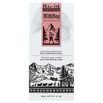 Milkboy Swiss Extra Dark Chocolate 85%, 3.5OZ
