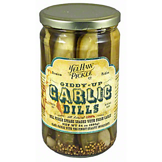 Yee Haw Pickle Co Giddy Up Garlic Dills,24 OZ
