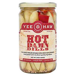 Yee Haw Pickle Co Hot Dills, 24 oz