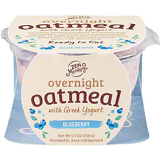 Zen Monkey Overnight Oats Blueberry Greek Yogurt, 5.3 oz