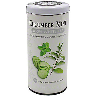 The Republic Of Tea Cucumber Mint 100% White Tea Bags, 50 ct