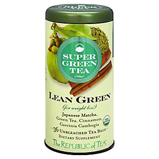 The Republic Of Tea Lean Green Super Green Tea,36CT
