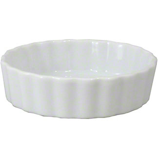 Harold Imports Whiteware Round Creme Brulee Dish, 4 IN