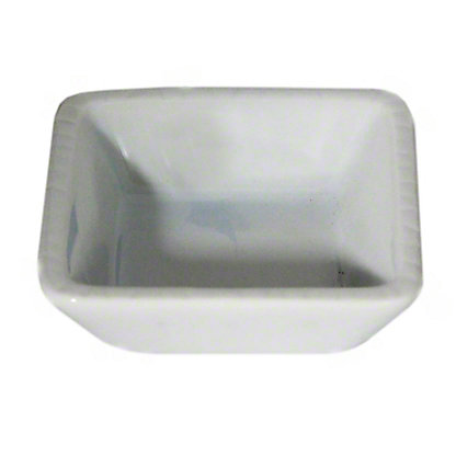 Harold Imports Whiteware Square Dipping Dish 3.25 Inch, 3.25IN
