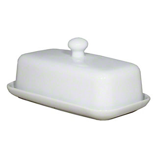 Harold Imports Whiteware Covered Butter Dish, EACH
