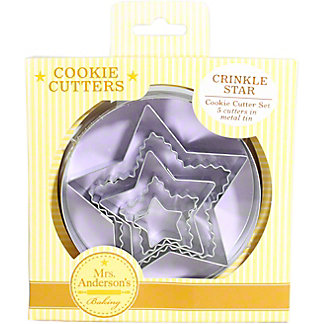 Harold Imports Star Crinkle Cookie Cutter Set Of 5, 5 pc