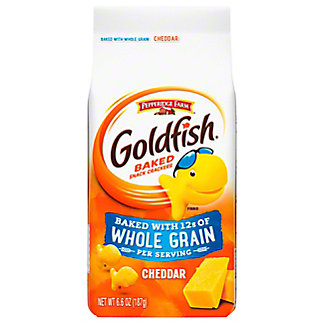 Pepperidge Farm Goldfish Whole Grain Cheddar Baked Snack Crackers, 6.6 oz