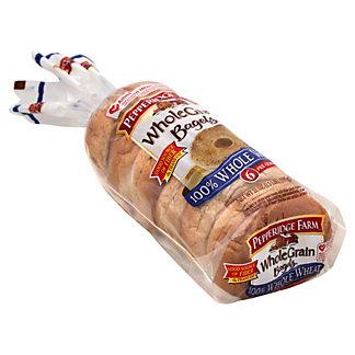 Pepperidge Farm Whole Grain 100% Whole Wheat Bagels, 6 ct