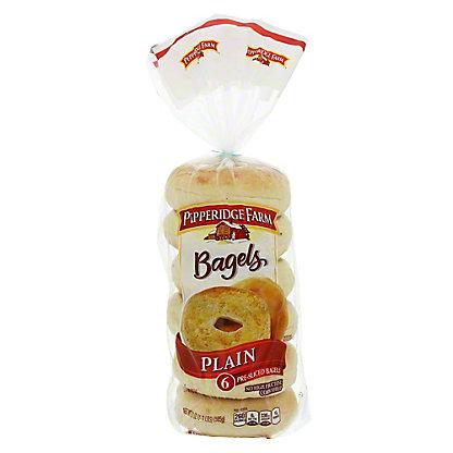 Pepperidge Farm Plain Bagels, 6 ct