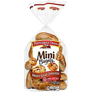 Pepperidge Farm Mini Brown Sugar Cinnamon Bagels,12 CT
