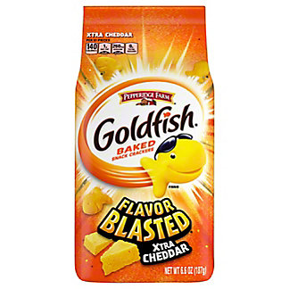 Pepperidge Farm Goldfish Flavor Blasted Xtra Cheddar Baked Snack Crackers, 6.6 oz