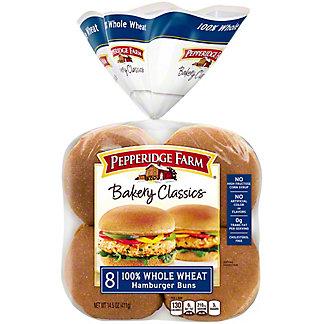 Pepperidge Farm Soft 100% Whole Wheat Hamburger Buns,8 CT