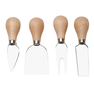 TAG Basic Cheese Utensils Wood Handle Set, 4 ct