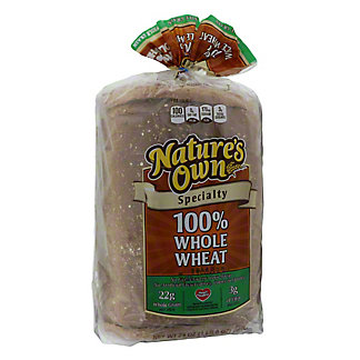 Nature's Own 100% Whole Wheat Specialty Bread, 24 oz