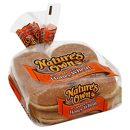 Nature's Own Honey Wheat Sandwich Rolls,8 CT