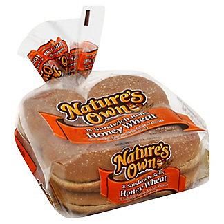 Nature's Own Honey Wheat Sandwich Rolls,8 CT