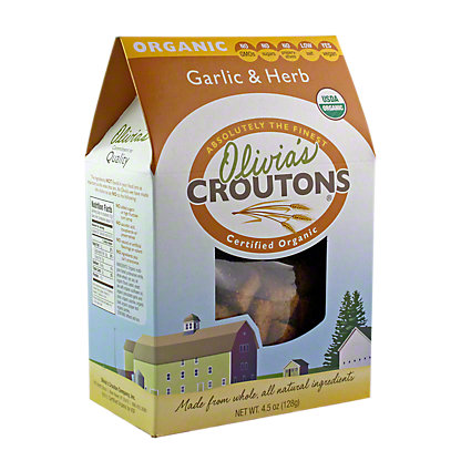Olivia's Garlic Herb Croutons,4.5OZ