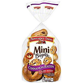 Pepperidge Farm Cinnamon Raisin Mini Bagels,12 CT