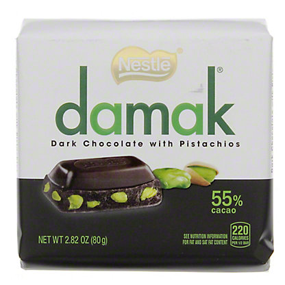 Nestle Damak Dark Chocolate with Pistachio, 2.82 oz