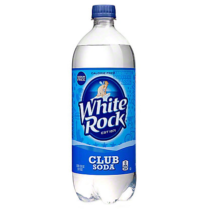 White Rock Club Soda,33.80 oz