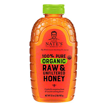 NATURE NATES Organic Honey,32OZ