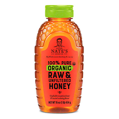 NATURE NATES Organic Honey,16OZ