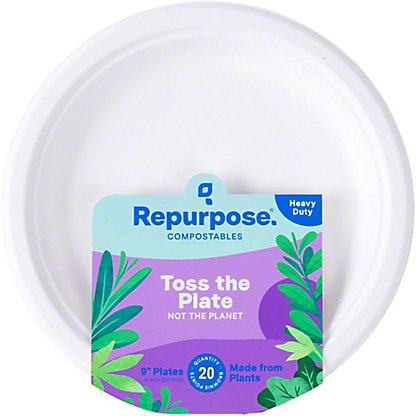 Repurpose 9inch Bagasse Plates, 20 ct