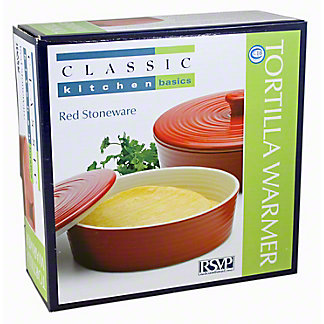 RSVP INTERNATIONAL Stoneware Red 8 Inch Tortilla Warmer, EA