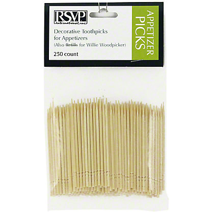 RSVP International RSVP Wooden Appetizer Picks, 250 ct