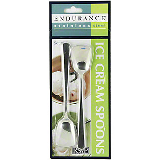 RSVP Stainless Steel Ice Cream Spoon Set, 4 ct
