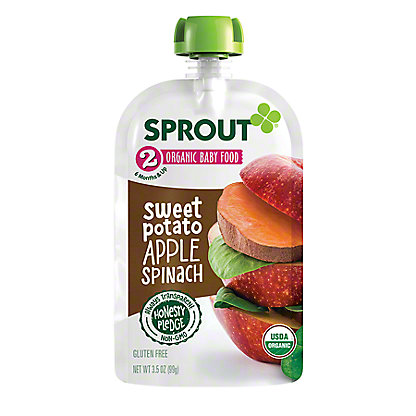 Sprout Stage 2 Sweet Potato Apple Spinach Organic Baby Food,4 oz