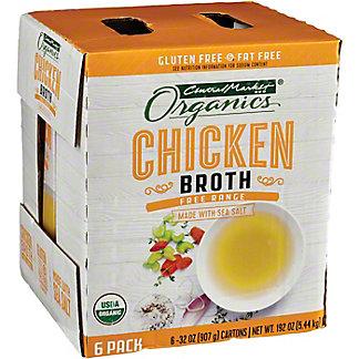 Central Market Organics Chicken Broth 6 Pk, 32 oz