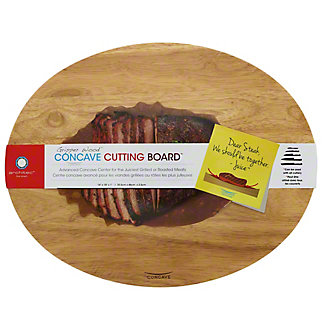 Architec Gripperwood Concave Natural Rubberwood 14' x 18' Cutting Board, EACH