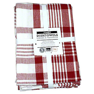 Now Designs Pure Kitchen Red Teatowels Set Of 3, 3 CT