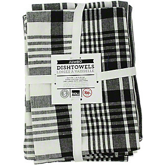 Now Designs Pure Kitchen Black Teatowels Set Of 3, 3 CT