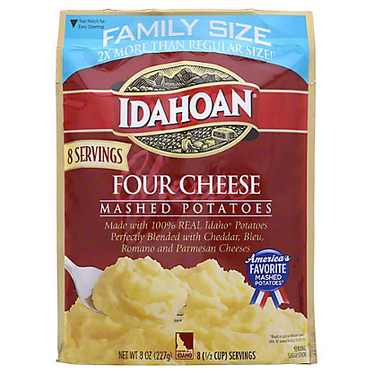 Idahoan Family Size Four Cheese Mashed Potatoes, 8 oz