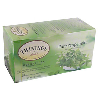 Twinings Pure Peppermint Herbal Tea Bags, 25 ct
