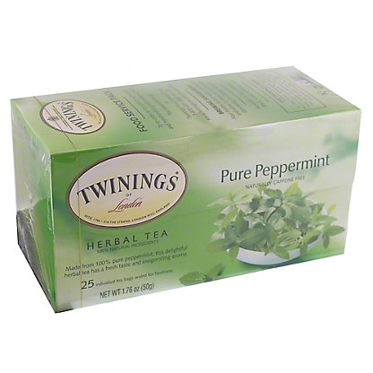 Twinings Pure Peppermint Herbal Tea Bags, 25 ct