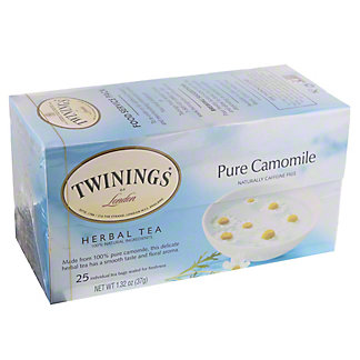 Twinings Pure Chamomile Herbal Tea Bags, 25 ct